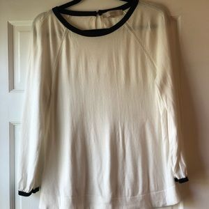 Women's Loft size M white and black sweater